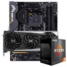 Kit Upgrade Sapphire Radeon RX 6700 XT + AMD Ryzen 9 5950X + ASUS TUF Gaming X570-Plus