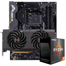 Kit Upgrade Sapphire Pulse Radeon RX 6700 XT + AMD Ryzen 9 5950X + ASUS TUF Gaming X570-Plus