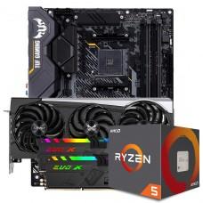 Kit Upgrade Sapphire Radeon RX 6700 XT + AMD Ryzen 5 5600X + ASUS TUF Gaming X570-Plus + Memória DDR4 16GB (2x8GB) 3600MHz
