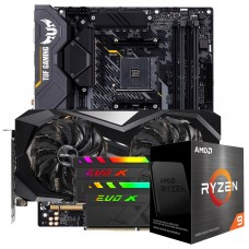 Kit Upgrade ASRock Radeon RX 6700 XT Challenger + AMD Ryzen 9 5950X + ASUS TUF Gaming X570-Plus + Memória DDR4 16GB (2x8GB) 3600MHz