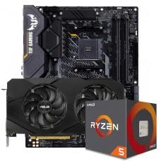 Kit Upgrade ASUS GeForce RTX 2060 OC EVO Dual + AMD Ryzen 5 5600X + ASUS TUF Gaming X570-Plus