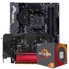 Kit Upgrade ASUS GeForce RTX 2060 OC EVO Dual + AMD Ryzen 5 5600X + ASUS TUF Gaming X570-Plus + Geil Orion 16GB (2x8GB) 3000MHz