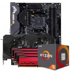 Kit Upgrade ASUS GeForce RTX 2060 OC EVO Dual + AMD Ryzen 5 5600X + ASUS TUF Gaming X570-Plus + Geil Orion 32GB (4x8GB) 3000MHz
