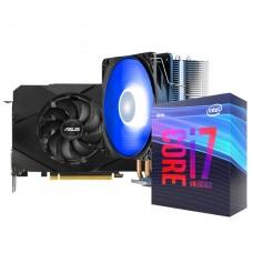 Kit Upgrade ASUS GeForce RTX 2060 OC EVO Dual + Intel Core i7 10700KF + Brinde Cooler