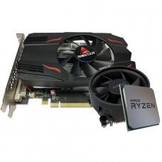 Kit Upgrade Biostar Radeon RX 550 4GB + AMD Ryzen 5 3500