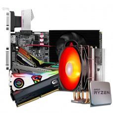 Kit Upgrade Biostar NVIDIA GeForce GT 610 + Ryzen 3 3300X +  Memória DDR4 16GB (2x8GB) 3000Mhz + Brinde Cooler