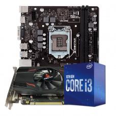 Kit Upgrade Biostar Radeon Rx 550 2GB + Intel Core i3 10105F + Biostar H410MH VER 6.0