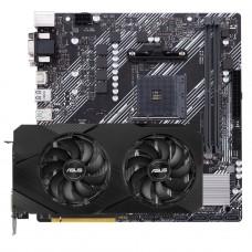 Kit Upgrade ASUS GeForce RTX 2060 OC EVO Dual + ASUS Prime A520M-E
