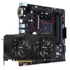 Kit Upgrade ASUS GeForce RTX 2060 OC EVO Dual + ASUS Prime B450M Gaming/BR