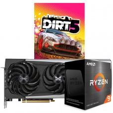 Kit Upgrade SAPPHIRENITRO+RADEON RX 6700 XT + AMD Ryzen 9 5950X + Brinde Jogo Dirt 5