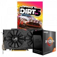 Kit Upgrade ASUS ROG STRIX  RX 570 OC + AMD Ryzen 9 5900X + Brinde Jogo Dirt 5