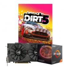 Kit Upgrade ASUS ROG STRIX RX 570 OC + AMD Ryzen 7 3700X + Brinde Jogo Dirt 5