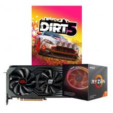 Kit Upgrade PowerColor Radeon RX 6900 XT Red Devil + AMD Ryzen 7 3700X + Brinde Jogo Dirt 5