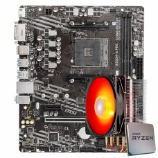 Kit Upgrade MSI B550M-A PRO + AMD Ryzen 5 5600X 4.6GHz + Deepcool Gammaxx 400 V2 Red