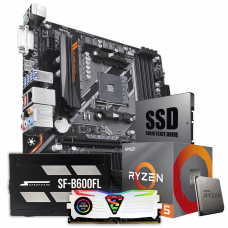 Kit Upgrade Package, AMD 3500, Gigabyte B450, DDR4, 8GB 3000MHZ, SSD 240GB, Fonte 600W