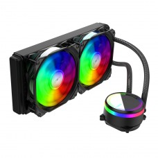 Water Cooler Alseye M240 Black, 240mm, RGB, Intel-AMD