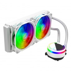 Water Cooler Alseye M240 White, 240mm, RGB, Intel-AMD