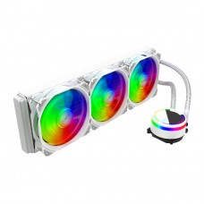 Water Cooler Alseye M360 White, 360mm, RGB, Intel-AMD