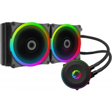 Water cooler GameMax Iceberg 240, Rainbow 240mm, Intel-AMD