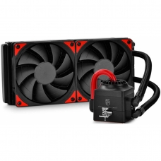 Water Cooler Gamer Storm DeepCool Captain 240EX, Red 240mm, Intel-AMD, DP-GS-H12L-CT240A4