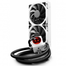 Water Cooler Gamerstorm DeepCool Captain 240EX, RGB 240mm, Intel-AMD, White, DP-GS-H12L-CT240RGB-WH