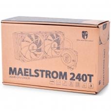 Water Cooler Gamerstorm DeepCool Maelstrom 240T, 240mm, Intel-AMD, DP-GS-H12RL-MS240TWFAM4