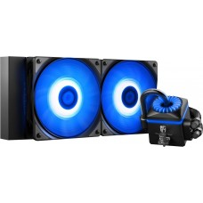 Water Cooler Gamer Storm DeepCool Captain 240EX V2 RGB 240mm, Intel-AMD, Black, DP-GS-H12L-CT240RV2