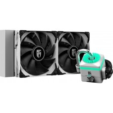 Water Cooler Gamer Storm DeepCool Captain 240X RGB 240mm, Intel-AMD, White, DP-GS-H12-CT240XR-WH