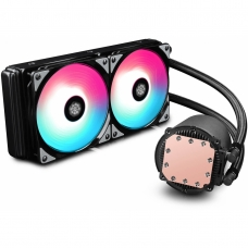 Water Cooler GamerStorm DeepCool Castle, RGB 240mm, Intel-AMD, DP-GS-H12L-CSL240RGB