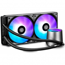 Water Cooler Gamer Storm DeepCool Castle, RGB 280mm, Intel-AMD, DP-GS-H12L-CSL280RGB