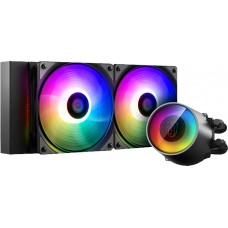 Water Cooler GamerStorm DeepCool Castle V2 RGB 240mm, Intel-AMD, DP-GS-H12AR-CSL240V2