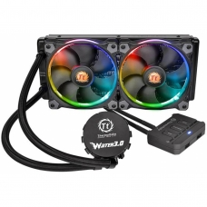 Water Cooler Thermaltake 3.0 Riing, RGB 240mm, Intel-AMD, CL-W107-PL12SW-A